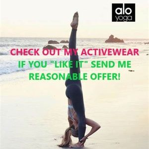 CHECK OUT MY ALO YOGA ACTIVEWEAR!